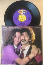 "Frank & Moon Zappa - Valley Girl - You Are What You Is - RARE 7"" Single VG A1/B1"