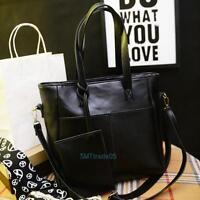 Fashion Womens Lady Leather Handbag Shoulder Messenger Bag Clutch Bag Tote Purse