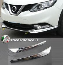 modanature 2 angolari paraurti compatibili per Nissan Qashqai 17-10 ant. cromo
