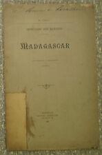 E. TAXIL/ IMPRESSIONS D'UN MARSOUIN/MADAGASCAR/ Antimilitarisme/1893/ EO, envoi