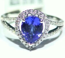 3.30CT 14K Gold Natural Tanzanite Diamond Vintage AAA Art Deco Engagement Ring