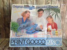 PRINT GOCCO by RISO BOXED ORIGINAL - VINTAGE MULTI-COLORED PRINTER HI-RES PRINTS