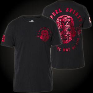 REBEL SPIRIT T-Shirt SSK141640 Schwarz T-Shirts Herren  Rebel Spirit