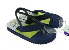 Carters Toddler Boys Navy Blue Flip Flops with Heel Strap Size Xs (3-4)