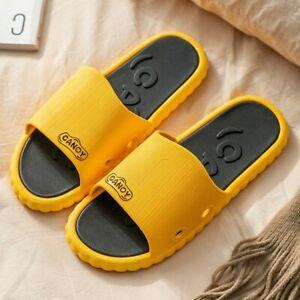 Women Men Summer Slippers Flip Flops Couples Home Non-slip Flat Shoes Sandals