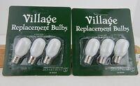 2 Packs Dept 56 Replacement Light Bulbs (6 Bulbs) Village #99244 D56 New