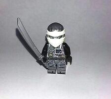 2017 LEGO NINJAGO Zane Ninja MINIFIGURE W/ Weapon New From set 70624 minifig