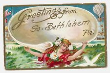 Early seldom seen Postcard: Greetings From So. (South) Bethlehem, Pa