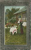 TAN-Y-BWLCH, Welsh Lady Tea Cottage Garden, Railway Merioneth Postcard JR.32