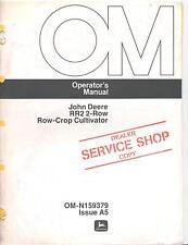 John Deere RR2 2-Row Row-Crop Cultivator Operator's Manual OM-N159379