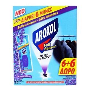 Anti Moth Lavender Fragrance Aroxol 6+6-Pack Gel Tablets/sachet Last 6 month