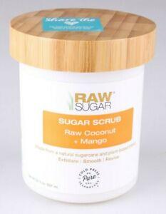 Raw Sugar Body Scrub Raw Coconut + Mango LARGE 20 oz Exfoliate Smooth Revive