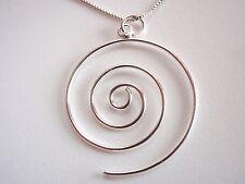 Spiral Pendant 925 Sterling Silver Corona Sun Jewelry