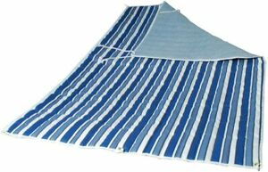 Algoma 2951-135142 Quilted Hammock Pad, Tropical Palm Stripe/Blue/Norway Powd...