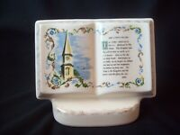 The Lord's Prayer Vintage Planter Royal Windsor Books of Remembrance circa 1960s