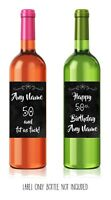 WINE LABEL.50th birthday. Wine/Personalised/ Him/Her Funny, rude, sarcastic!