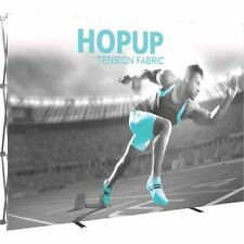 HopUp Straight 4x3 Trade Show Display with Front Graphic
