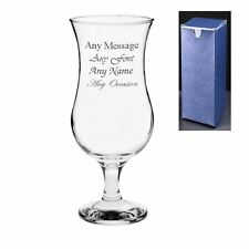 Personalised Engraved Novelty Pina Colada Cocktail Glass - Birthday Gift Present
