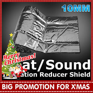 Thermals Sound Deadener Reduce Car SUV Cab Insulation Materials 10MM x 33Sqft