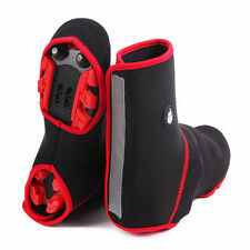 black red Unisex Windproof Waterproof Thermal Bike Bicycle Cycling Shoe Cover