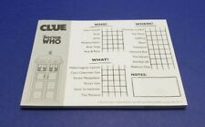 CLUE Doctor WHO board game replacement detective sheet pad 36 sheets Hasbro