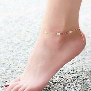 0.75ct E VVS1 Ankle Bracelet Diamond By The Yard Inch Station Man Made14k W Y R
