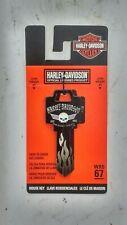 NEW Harley Davidson House Key BLANK for Weiser Locks WR5 67 Skull Wings Logo