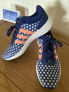 ADIDAS LADIES CLOUDFOAM  RUNNING GYM  TRAINERS SIZE PINK BLUE SIZE 7 VGC