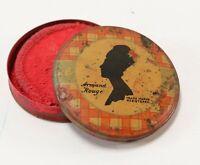Vintage Trial Box Armand Rouge Tin Cosmetic Blush w/ Advertising Tin