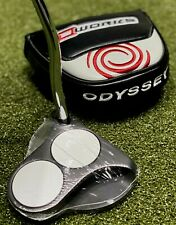"""Odyssey O-Works Black 2-Ball Mallet Putter 35"""" Inch w/ Headcover NEW #82879"""