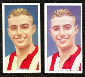 1936 PHILLIPS FAMOUS FOOTBALLERS SOCCER STARS STANLEY MATTHEWS CIGARETTE CARDS