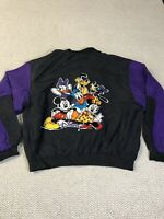 Vintage Jeff Hamilton Silk Disney Mickey Mouse Jacket Size Large Rare