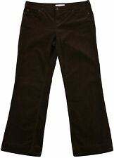 Michael Kors for Women Loose Fit Corduroy Trouser Soft Pants Size 10 Dark Brown