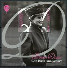 Guyana Royalty Stamps 2011 MNH Princess Diana 50th Famous People 1v S/S