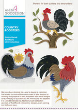 Anita Goodesign Country Roosters Embroidery Machine Design CD NEW