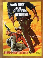 Männer die in Stiefeln sterben (Kinoplakat '64) - George Montgomery