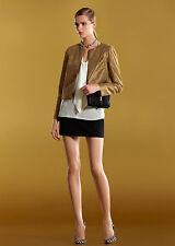 $1950 NEW Authentic Gucci Boxy Crew Neck Jacket Coat Blazer 38, Gold, #281810