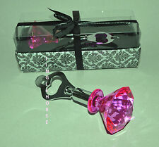 PINK JEWEL Bottle Opener PRETTY! LG Diamond Cut PRINCESS Handle IN GIFT BOX! NEW