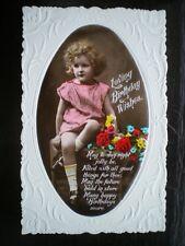 POSTCARD - RP EMBOSSED LOVING BIRTHDAY WISHES - POEM