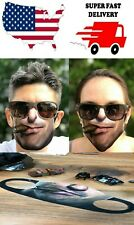 NEW CIGAR FACE FUNNY MASK COVER REUSABLE WASHABLE BREATHABLE FABRIC USA FAST