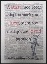 10th Wedding Anniversary Gift Idea Tin Man Quote Dictionary Page Wall Art Print