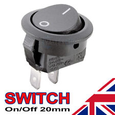 1 X On/off Black Round Rocker Switch Car Automotive 20mm SPST Boat Dash