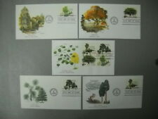 Set of 5 Scott # 1764- 1767 American Trees Se-Tenant Fleetwood FDC Unaddressed