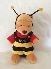 "Disney 14"" Winnie The Pooh In Bumblebee Costume Plush Stuffed Animal"