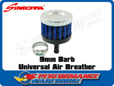 SIMOTA 9MM MINI AIR FILTER CRANKCASE BREATHER CHROME TOP BLUE ELEMENT