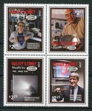 Niuafo'ou 2017 MNH Halleys Halley's Comet 4v Block Space Stamps