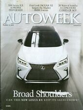 2015 Auto Week Magazine: Lexus RX/Acura ILX/Jaguar XE Targets BMX 3-series