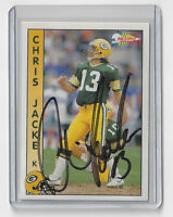 1992 PACKERS Chris Jacke signed card Pacific #102 Autographed Green Bay AUTO