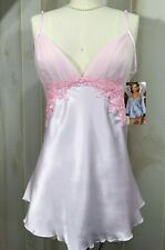 Sexy Valentine's Pink Lingerie Babydoll G-String Panty Set Satin Lace Sequin NEW