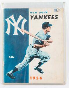 1956 NEW YORK YANKEES YEARBOOK - MICKEY MANTLE WHITEY FORD STENGEL RIZZUTO